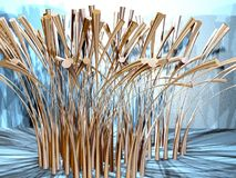 Abstract grass 2. Abstract metallic grass on the blue background stock illustration