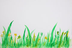 Abstract grass watercolor background royalty free stock images