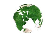 Abstract grassy Earth globe (Europe) Royalty Free Stock Photos