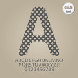 Abstract Grate Alphabet and Digit Vector Stock Image