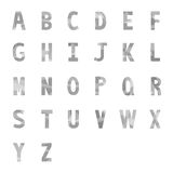 Abstract gray alphabets A to Z 1 Stock Image