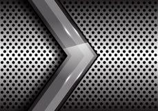 Abstract gray arrow on metal circle mesh design modern futuristic creative background vector Stock Photos