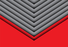 Abstract gray arrow on red design modern futuristic creative idea background vector. Royalty Free Stock Photos