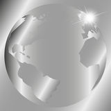 Abstract gray background with globe Royalty Free Stock Photos