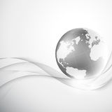 Abstract gray background with globe Stock Images