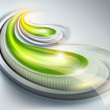 Abstract gray background with green Stock Image