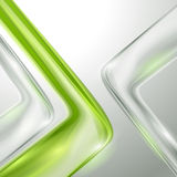 Abstract gray background with green Stock Photography