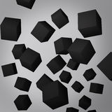 Abstract gray background made of black cubes Stock Images