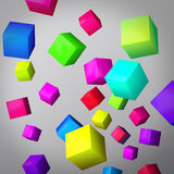 Abstract gray background made of color cubes Royalty Free Stock Photos