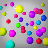 Abstract gray background made of color spheres Royalty Free Stock Photography