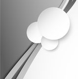 Abstract gray background with paper circles Stock Photography