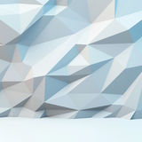Abstract gray background with polygonal pattern. 3d image. Abstract gray background with polygonal pattern. 3d illustration Royalty Free Stock Photography