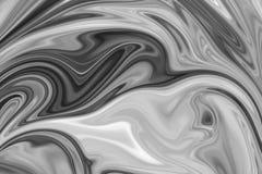 Abstract Gray Black en de Witte Marmeren Achtergrond van het Inktpatroon Maak Abstract Patroon met Zwarte vloeibaar, Wit, Grey Gr royalty-vrije illustratie