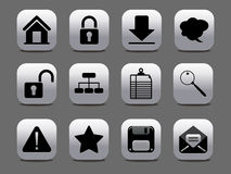 Abstract gray & black web icon Stock Photos