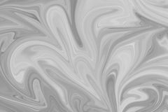 Abstract Gray Black and White Marble Ink Pattern Background. Liquify Abstract Pattern With Black, White, Grey Graphics Color Art. Form stock photos