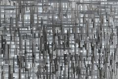 Abstract Sci-fi 3d Geometric Pattern Background Texture. Abstract gray or black and white sci-fi 3d geometric texture pattern Stock Photos