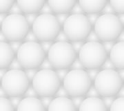 Abstract gray bubbles vector seamless hexagonal pattern Royalty Free Stock Photo