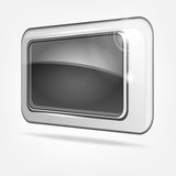 Abstract gray button Stock Photography