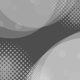 Abstract gray circles background with halftone dots Royalty Free Stock Photos