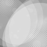 Abstract gray circles background with halftone dots. Vector royalty free illustration
