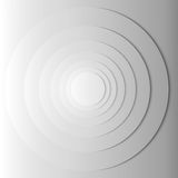 Abstract gray circles with shadow. EPS 10 Royalty Free Stock Photo