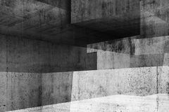 Abstract gray concrete background, 3d Stock Photography