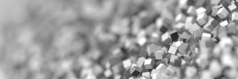 Abstract gray cubes three dimensional background Stock Image