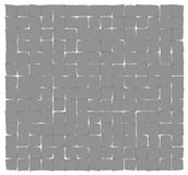 Abstract gray deformed squares Royalty Free Stock Images