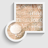 Abstract gray frame with pattern. And transparent speech bubble Stock Illustration