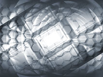 Abstract gray hi-tech concept 3d background. Illustration Royalty Free Stock Photography