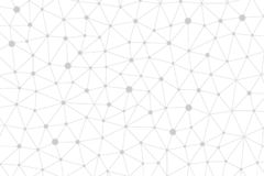 Abstract Gray lines and dots background concept stock illustration