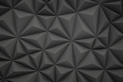 Abstract gray low poly background with copy space 3d render Stock Photography
