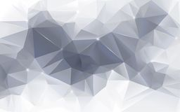 Abstract gray low poly background. High resolution gray colored metallic polygon mosaic vector background with slight blue hue. Smooth abstract 3D triangular low royalty free illustration