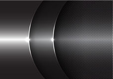 Abstract gray metal curve overlap design modern background vector Royalty Free Stock Image
