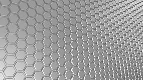 Abstract gray metal hexagonal background. 3d illustration vector illustration