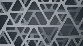 Abstract gray metallic background. Interlacing of geometric figures. Triangles with rounded corners. vector illustration
