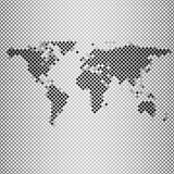Abstract gray mosaic, world map vector Royalty Free Stock Images