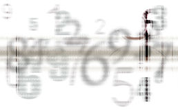 Abstract Gray numbers background Royalty Free Stock Photography
