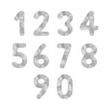 Abstract gray numbers2 Stock Photography