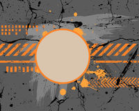 Abstract gray and orange painting Stock Photo