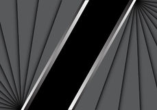 Abstract gray overlab on black blank space center for text place design modern creative background vector Royalty Free Stock Images