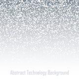 Abstract Gray Pixel Failing Technology Background Bedrijfs lichte achtergrond met pixel De grote Illustratie van de gegevensstroo vector illustratie