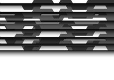 Abstract gray polygon futuristic 3D on white blank space for text place design modern background vector. Illustration Stock Photography