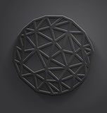 Abstract gray polygonal circle Stock Photos