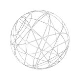 Abstract gray sphere Royalty Free Stock Images