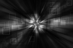Abstract gray tech background. Dark tech with square background stock illustration