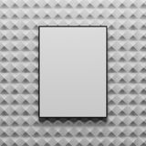 Abstract gray tile background, poster. Abstract gray tile background made of small diamond like shapes. Concept of design and advertising. A framed poster in the Royalty Free Stock Photography