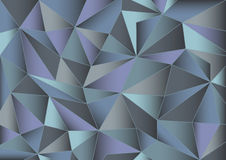 Abstract gray triangles 3d background. Abstract gray and blue triangles background Royalty Free Stock Photo