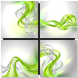 Abstract gray wave background Stock Images