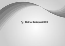 Abstract gray wave background. Royalty Free Stock Photos